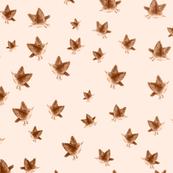 Sparrows in Peach