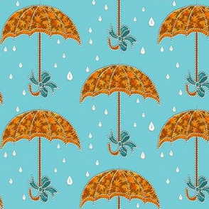 Umbrellas In Autumn