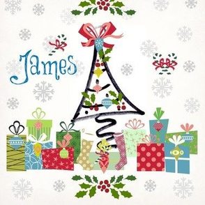 white christmas-personalized blue
