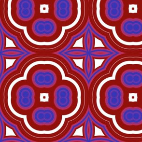 Red and Blue Mosaic Large
