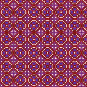 Red and Blue Mosaic Small