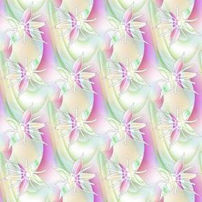 Pink and Green Plasma Autumn Joy Blossoms