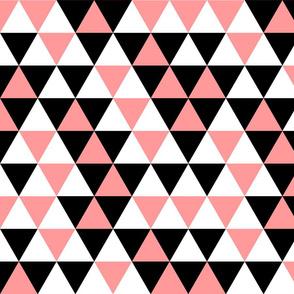 Triangles Coral Black White
