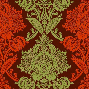 Rococo Damask 3d
