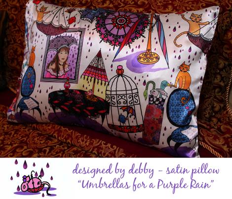 Umbrellas for a purple rain