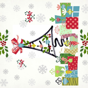 White Christmas Peace Love Joy - yard