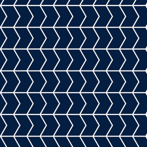 Chevron // Navy // on the 90