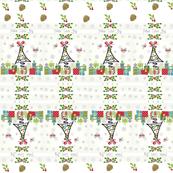 White Christmas -pinecones - horizontal