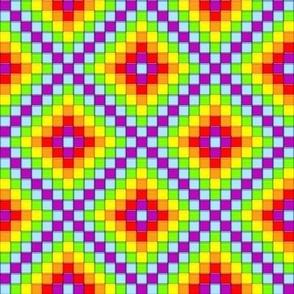 Mosaic - Rainbow Cubes
