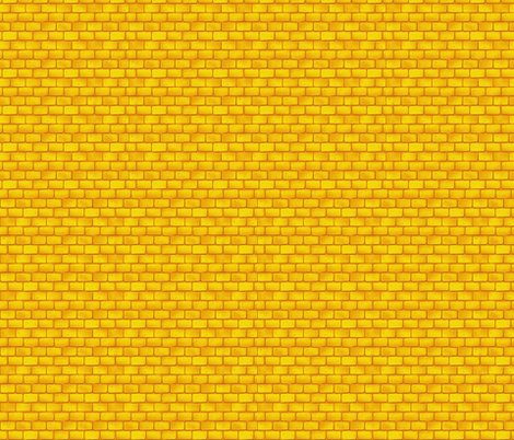 Yellow brick road fabric whimzwhirled spoonflower