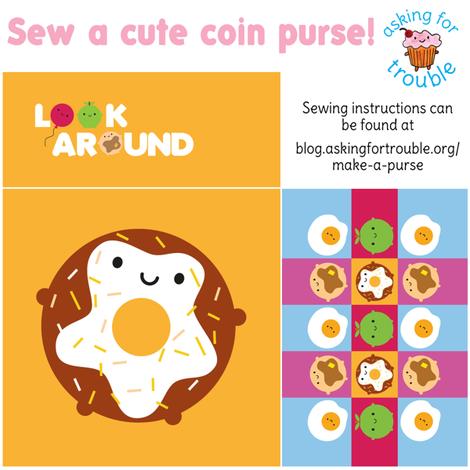 Kawaii Donut Coin Purse - Cut & Sew Pattern