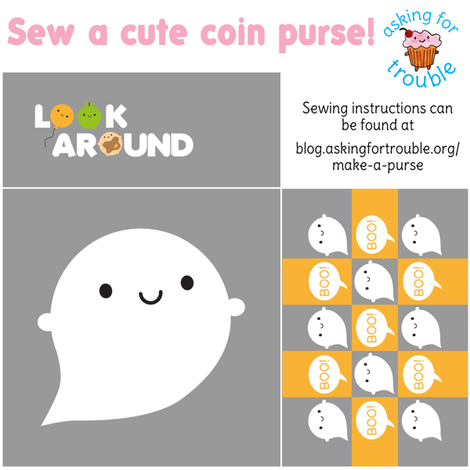 Little Ghost Coin Purse - Cut & Sew Pattern