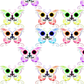 Multi-Color Sugar Skull Butterflies
