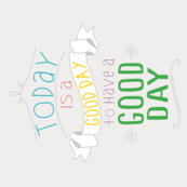 Good Day Calendar Tea Towel 2015