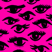 Inky Eyes - Magenta by Andrea Lauren
