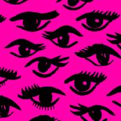 Inky Eyes - Magenta by Andrea Lauren
