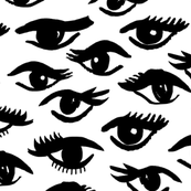 eyes // mascara beauty makeup vintage black and white beauty girly print