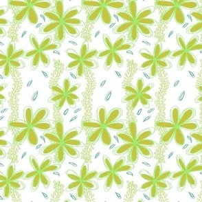 Green Floral Leaf Pattern