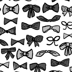bows // trendy fashion print for trendy girls in greyscale