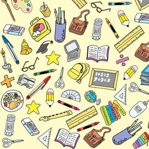 Back to School Stationery (Yellow)
