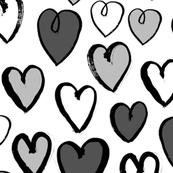 Hearts - Greyscale