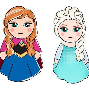 Elsa & Anna Dolls
