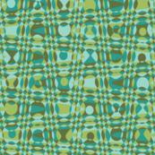 beaded curtain zigzag in green tea and jade