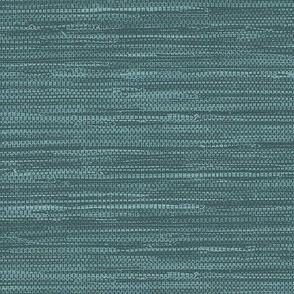 Grasscloth Fabric and Wallpaper in Deep Teal