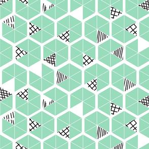 Crowded Geometric umbrellas
