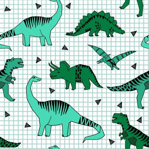 Dinos - Greens by Andrea Lauren