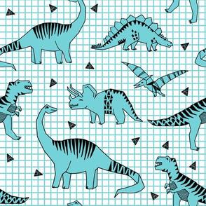 Dinos - Aqua by Andrea Lauren