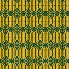 Woven Emblem Green Gold