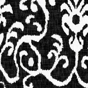 Lucette Ikat in Ebony