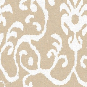 Lucette Ikat Floral in Natural
