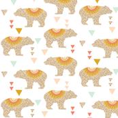 gold glitter v. I bears // coral