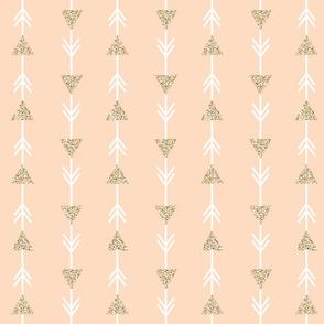 blush climbing arrows + gold sparkle v. I