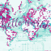 Hello World Baby Blanket or Swaddle // radiant orchid