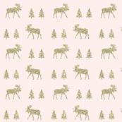 moose trot // pale pink + gold glitter v. II
