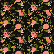sprigs and blooms // black