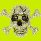 Sparkly Diamond Skulls on Lime