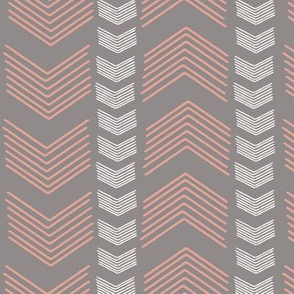 Herringbone Stripe in Cashmere and Pink