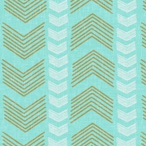 Herringbone Stripe in Aqua
