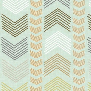 Herringbone Stripe in Harvest