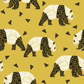 Geometric Panda - Mustard by Andrea Lauren