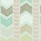 Herringbone Stripe in Summer Pastels
