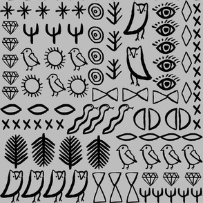 Glyphs - Slate by Andrea Lauren