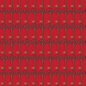 Steampunk Victorian Key in Red