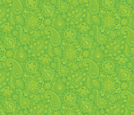 Cosmic henna green fabric groovity spoonflower for Cosmic print fabric