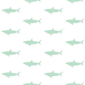 Mint Shark - Nautical Shark