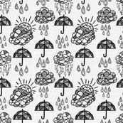 Geometric Umbrella (Light Textured)